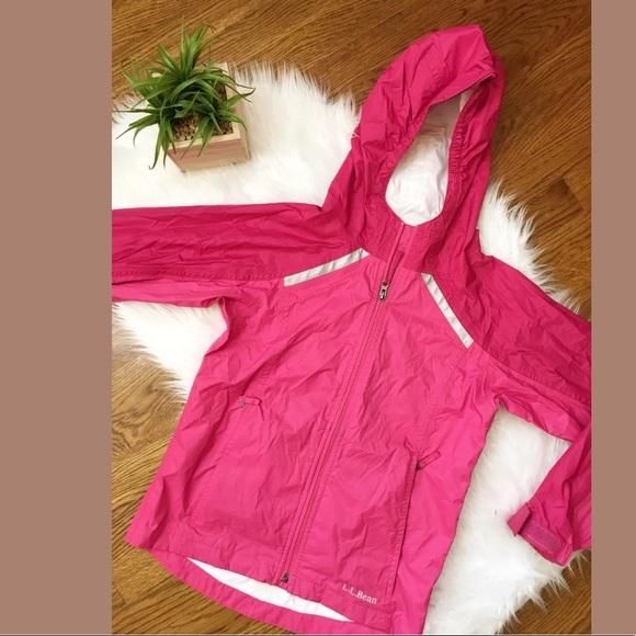 Bean Toddler Girl Pink Hooded Nylon Lined Zip Windbreaker Jacket Sz 2 2T L.L